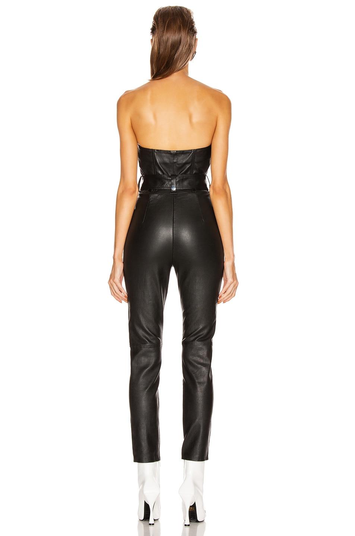 Image 4 of GRLFRND Blake Leather Moto Jumpsuit in Black