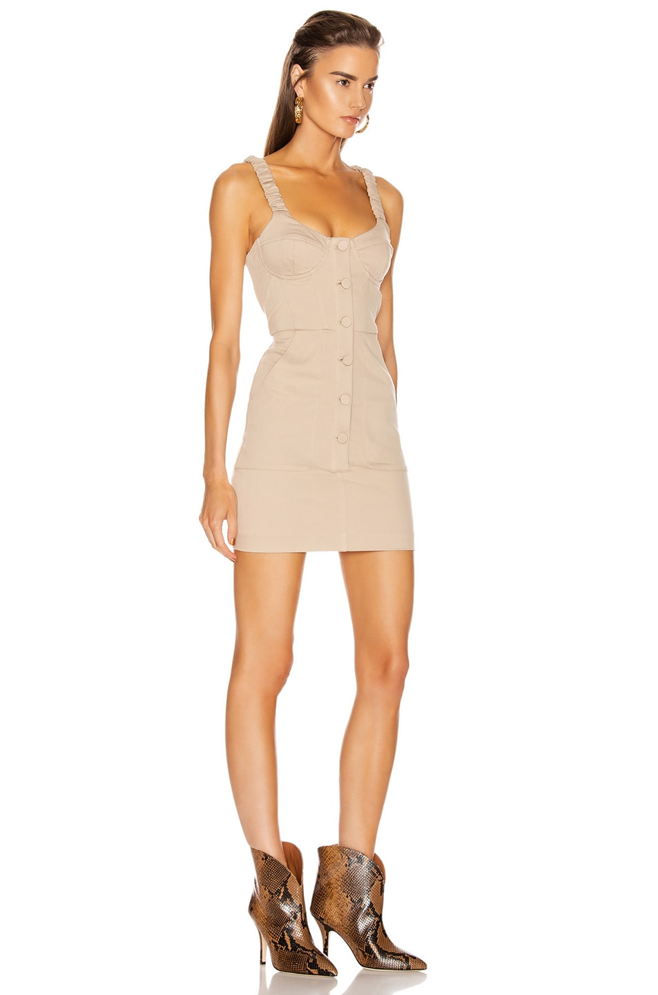 Image 2 of GRLFRND Shae Mini Dress in Khaki