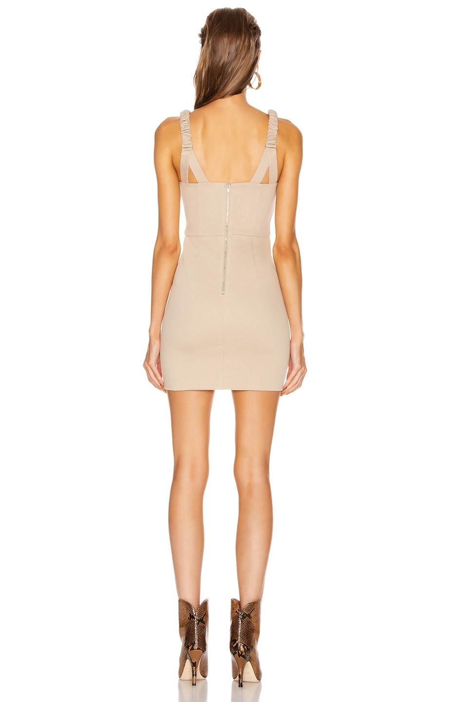 Image 3 of GRLFRND Shae Mini Dress in Khaki