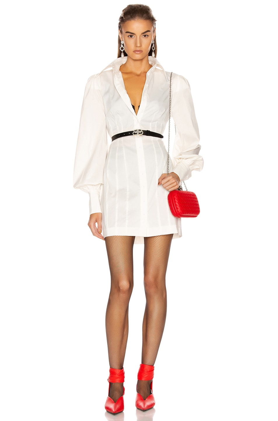 Image 1 of GRLFRND Lo Shirt Dress in White