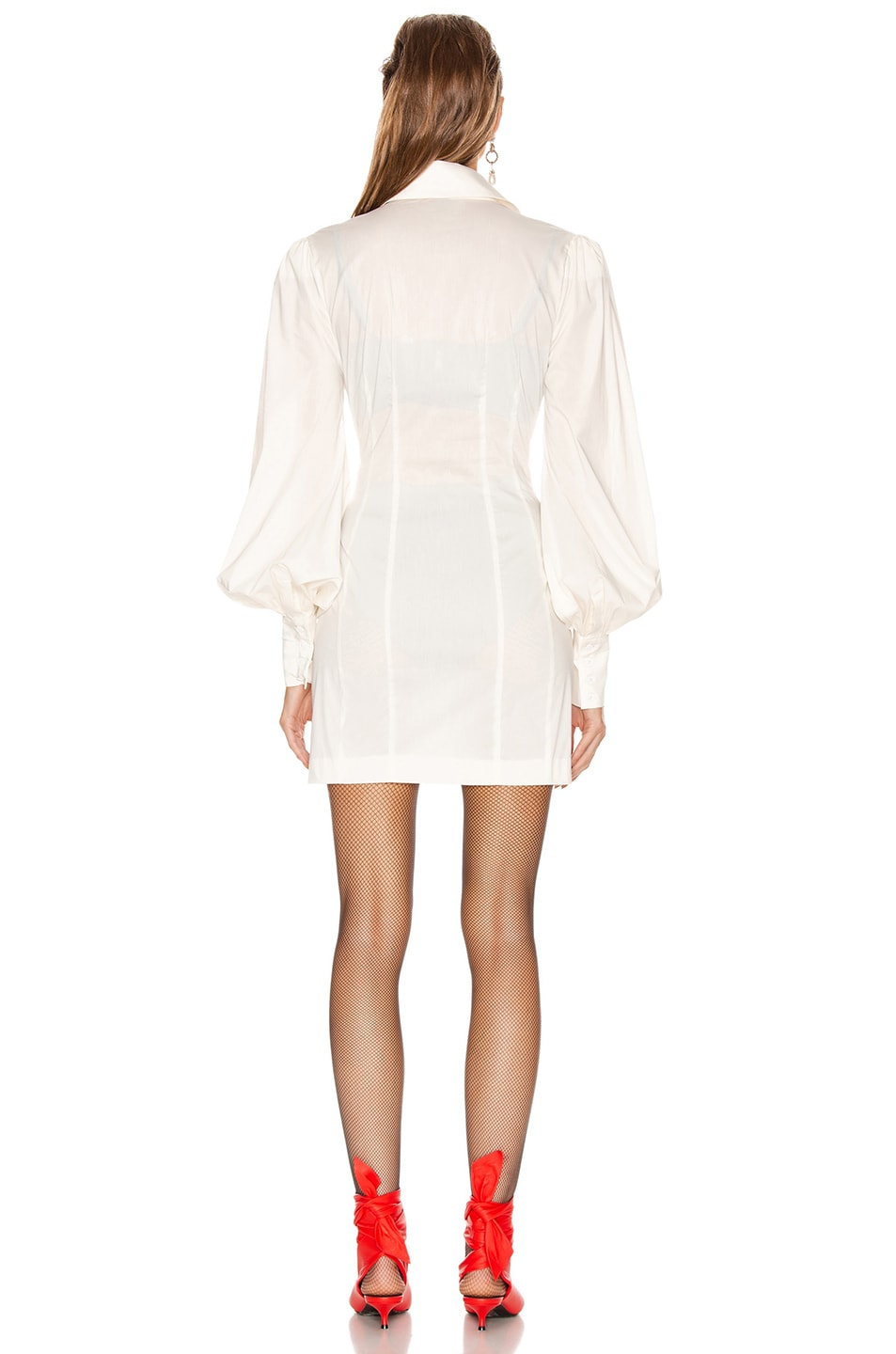 Image 4 of GRLFRND Lo Shirt Dress in White