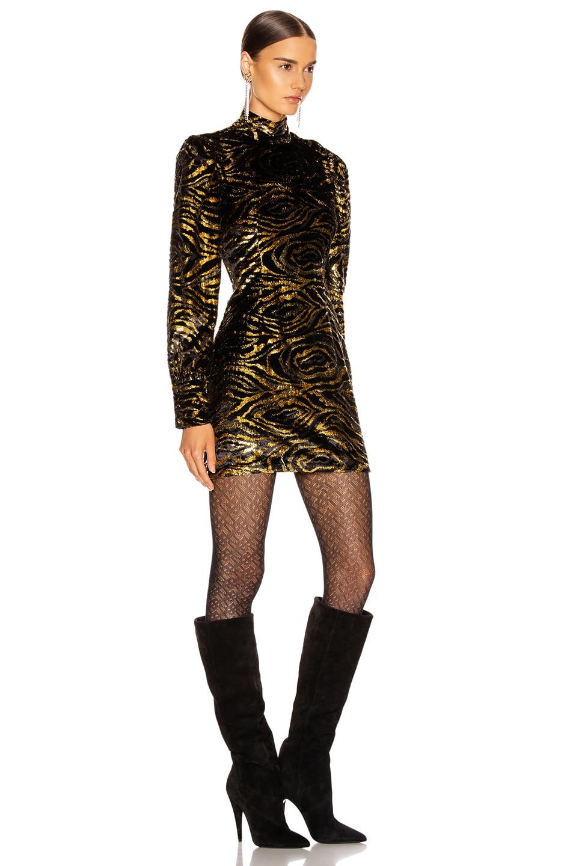Image 2 of GRLFRND Janice Mini Dress in Black & Gold