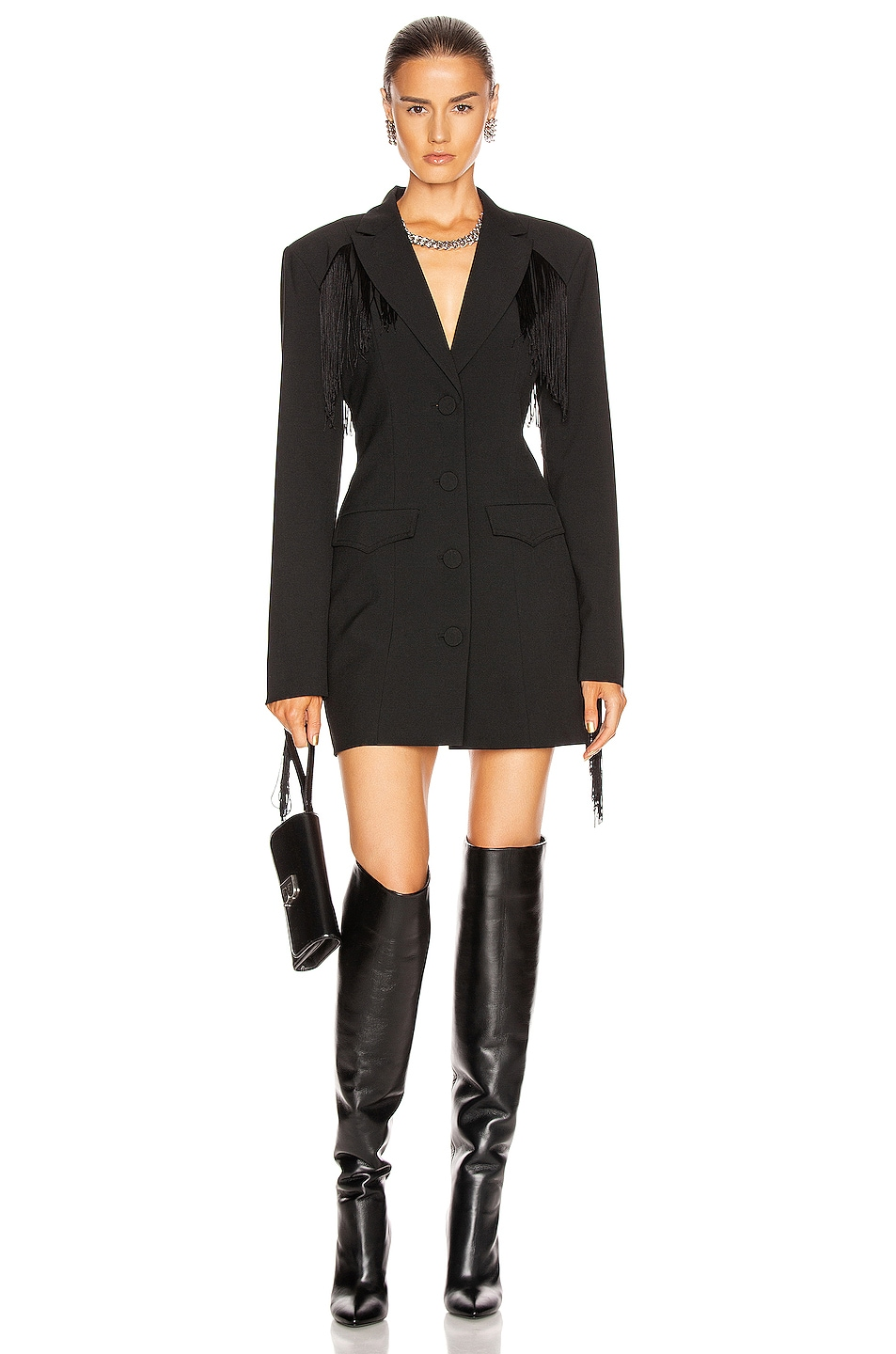 Image 2 of GRLFRND Zoe Suit Dress in Black