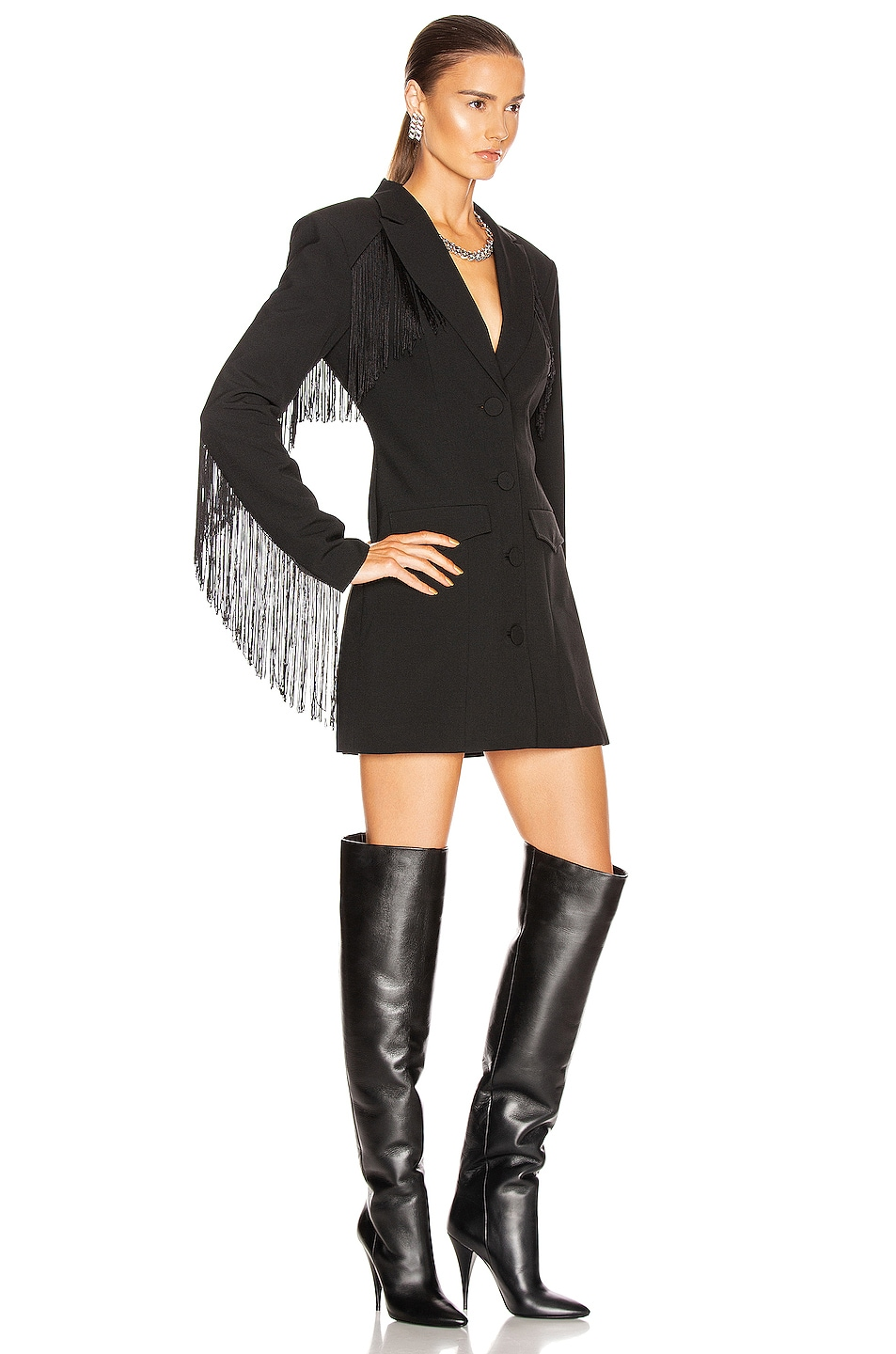 Image 3 of GRLFRND Zoe Suit Dress in Black