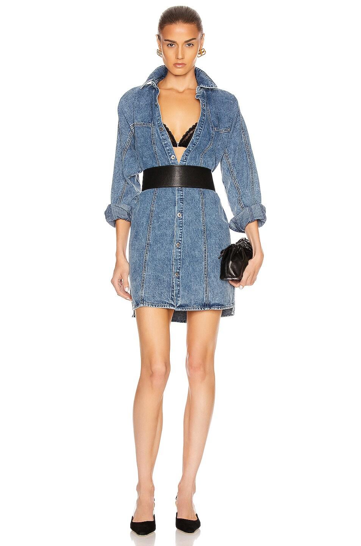 Image 1 of GRLFRND Kiko Studded Shirt Dress in Let You Go