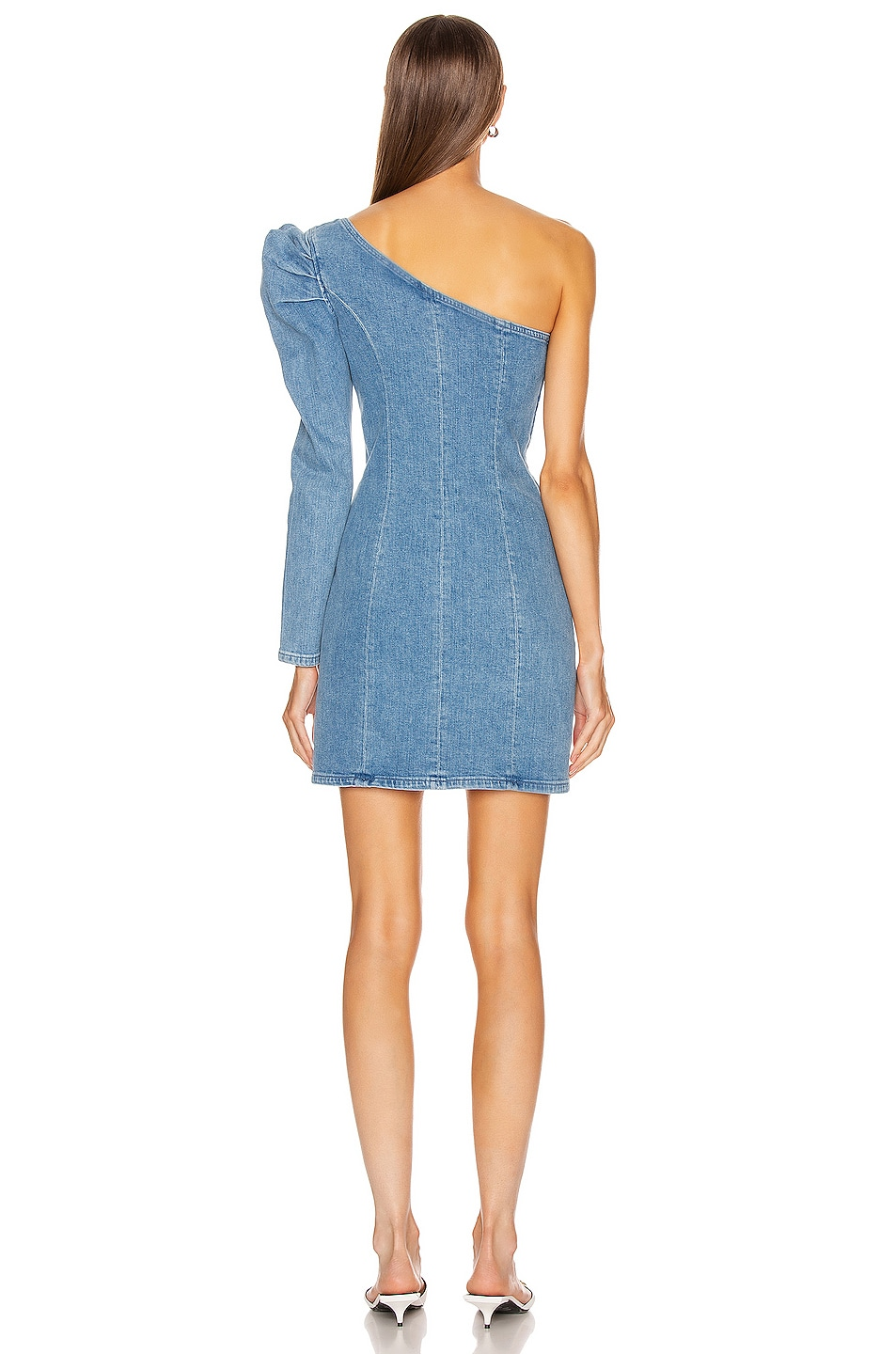 Image 4 of GRLFRND Ruched Sleeve Dress in No Limits