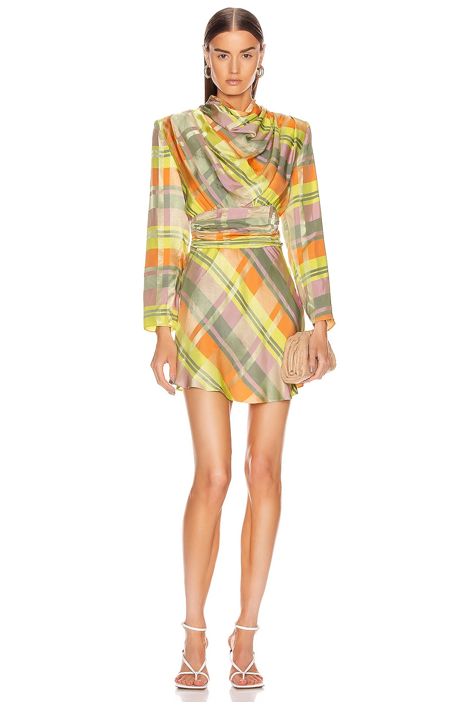 Image 1 of GRLFRND Leona Mini Dress in Green Plaid