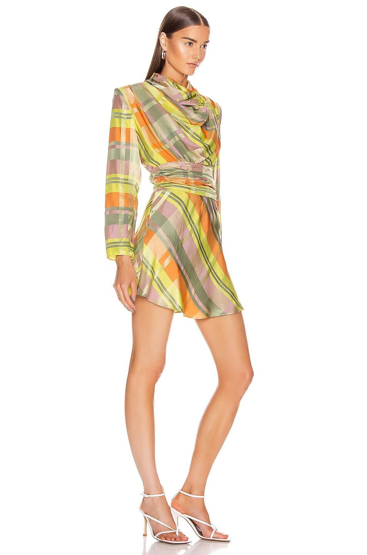 Image 2 of GRLFRND Leona Mini Dress in Green Plaid