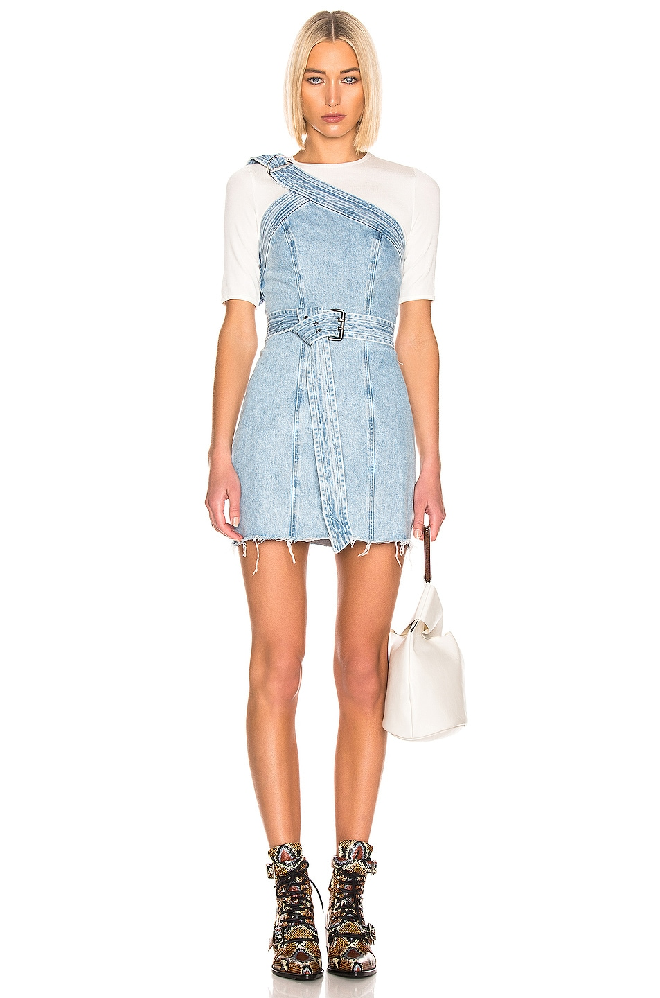 Image 1 of GRLFRND Callie Belted Dress in Late Night Tales