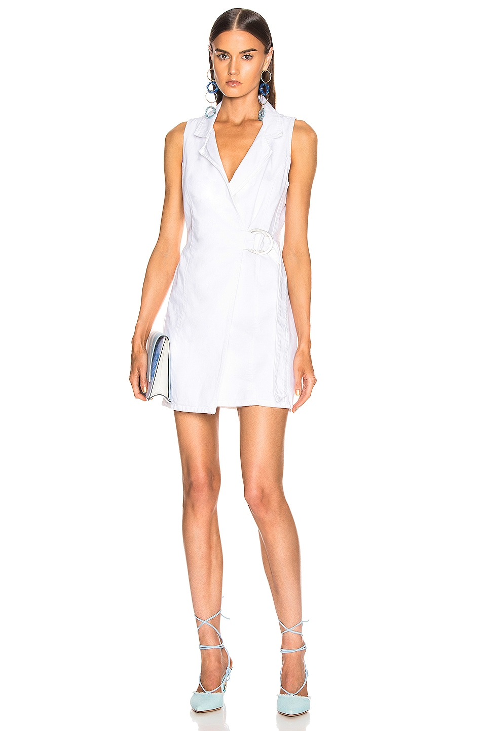 Image 1 of GRLFRND Kiran Belted Wrap Dress in Confidante