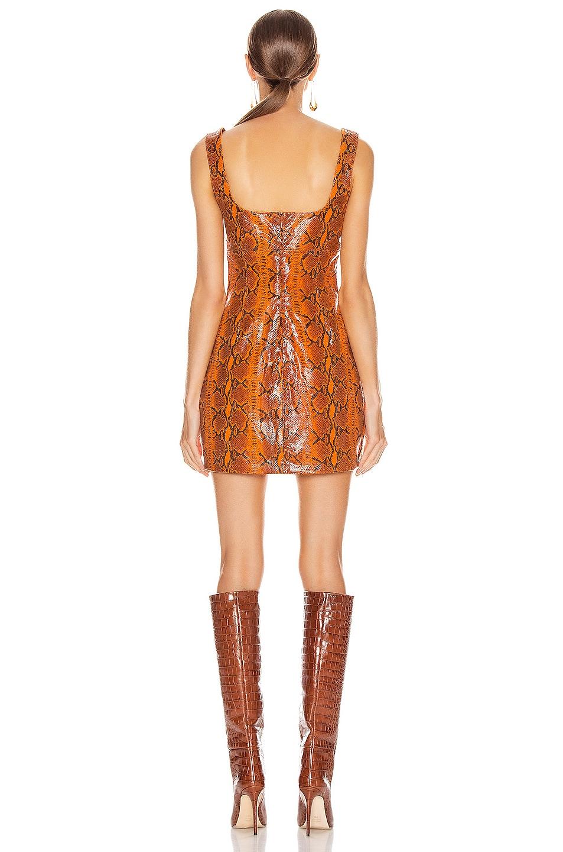 Image 3 of GRLFRND Romi Mini Dress in Orange Snake