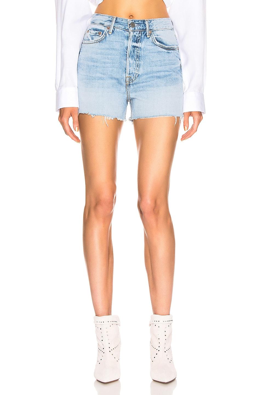 Image 1 of GRLFRND Poppy High Rise Cut Off Shorts in Keep Talking