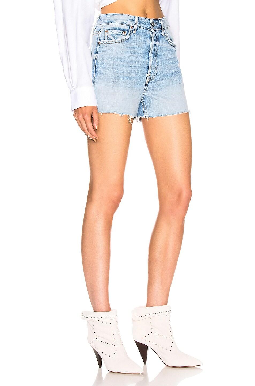 Image 2 of GRLFRND Poppy High Rise Cut Off Shorts in Keep Talking