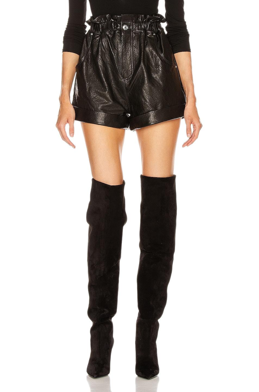 Image 1 of GRLFRND Shea Leather Shorts in Black