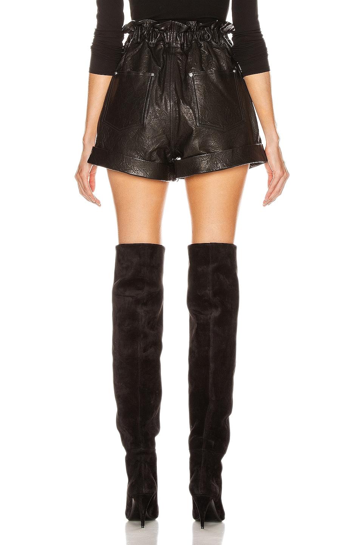 Image 3 of GRLFRND Shea Leather Shorts in Black