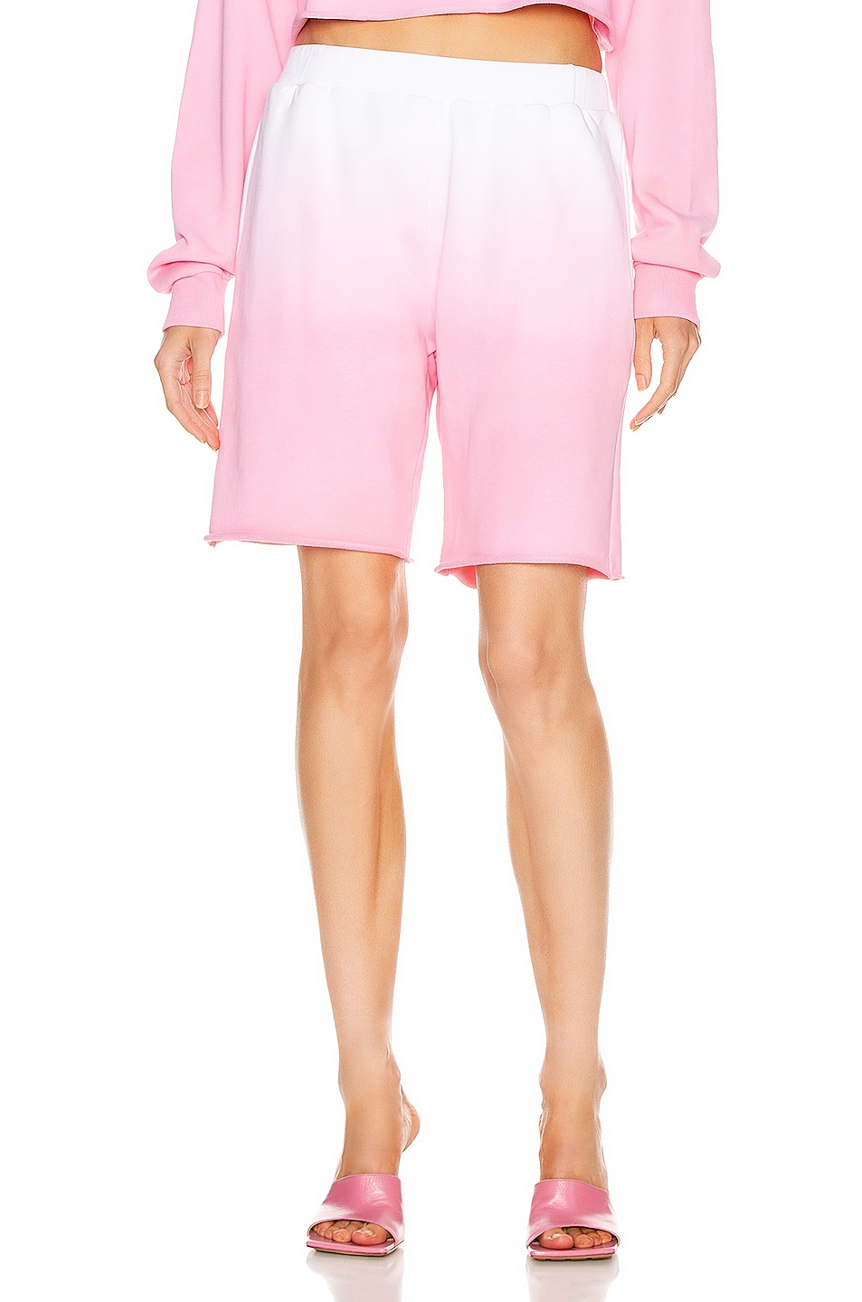 Image 1 of GRLFRND Tommie Cut Off Shorts in Pink