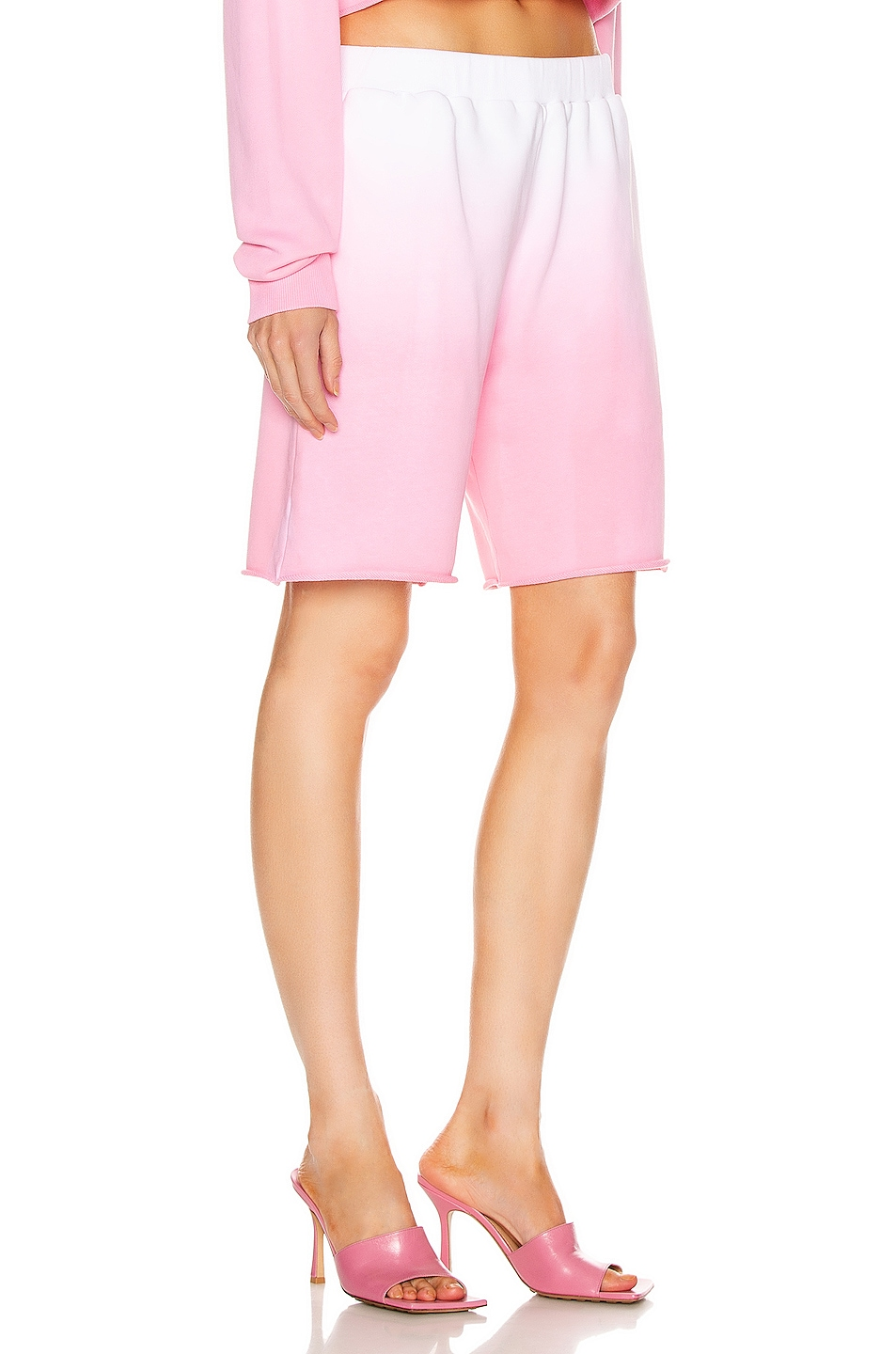 Image 2 of GRLFRND Tommie Cut Off Shorts in Pink