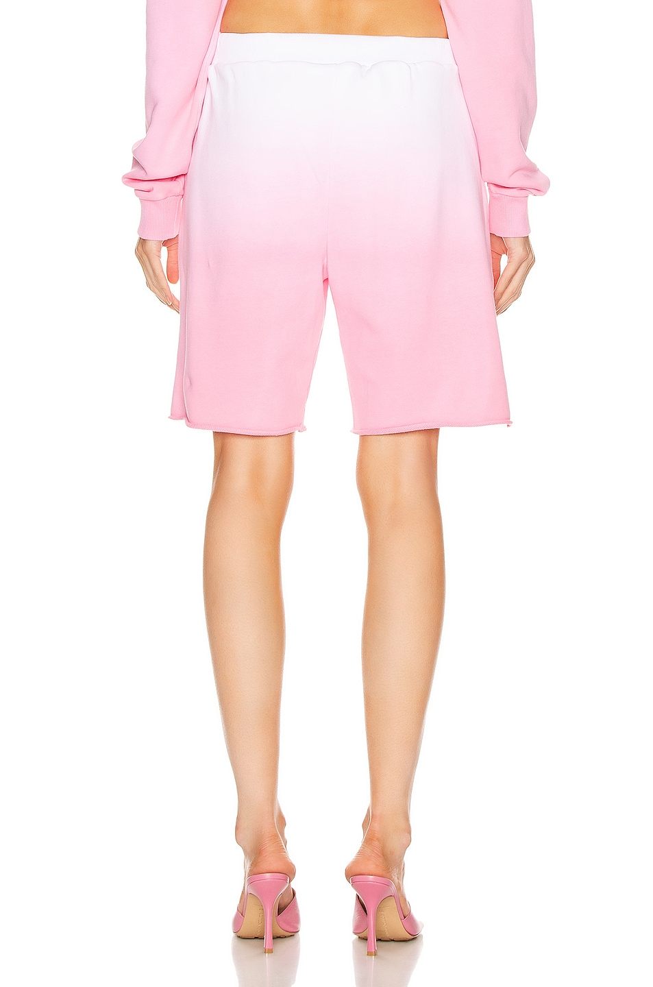 Image 3 of GRLFRND Tommie Cut Off Shorts in Pink
