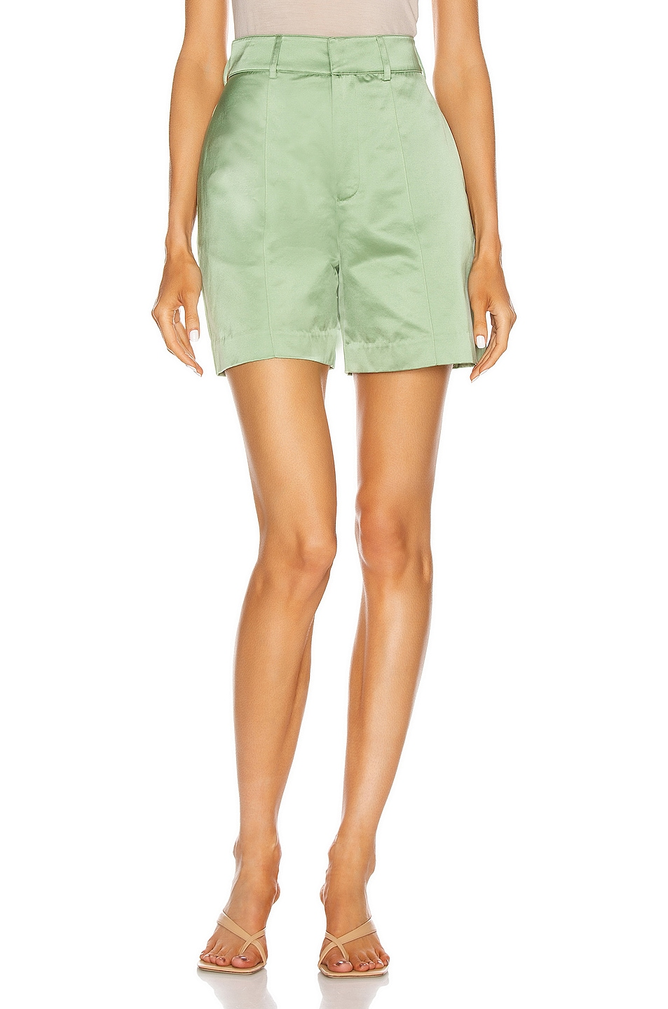 Image 1 of GRLFRND Alexei Trouser Shorts in Sage