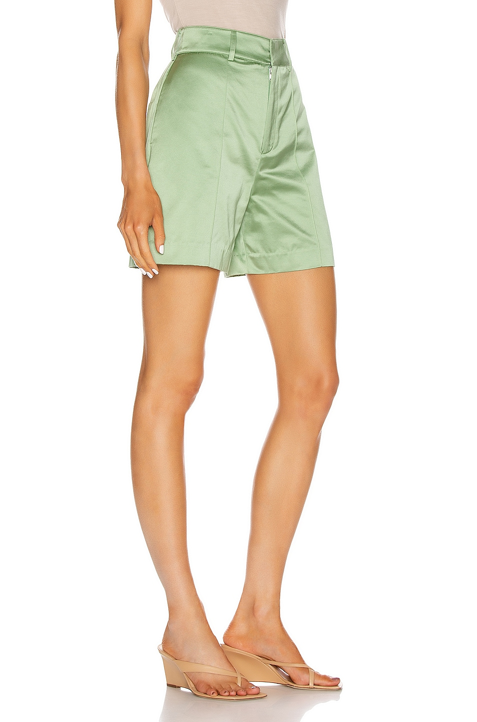 Image 2 of GRLFRND Alexei Trouser Shorts in Sage