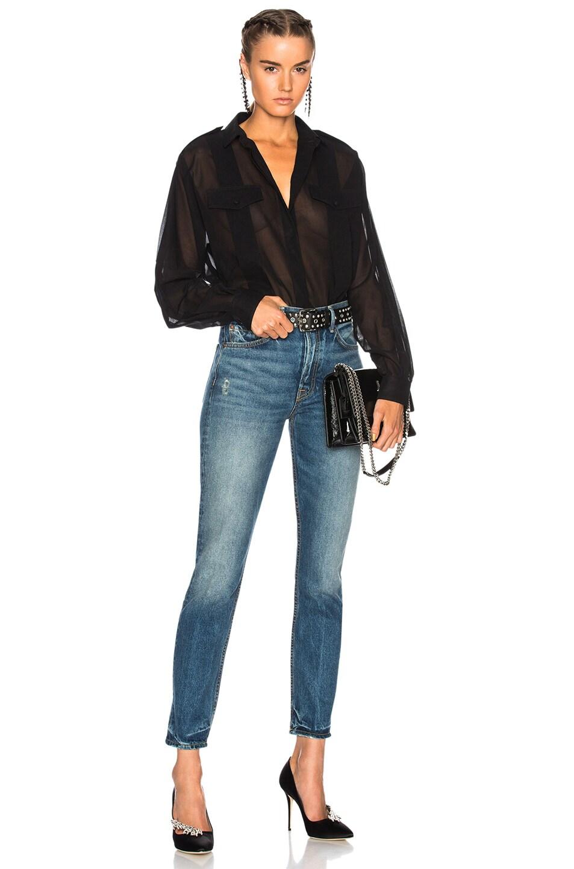 Image 4 of GRLFRND Karolina High Rise Skinny Jean in Close to You