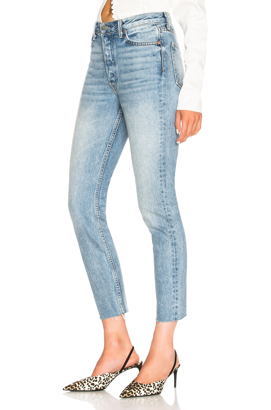 Image 3 of GRLFRND Karolina Cut Out High Rise Skinny in Zoned Out
