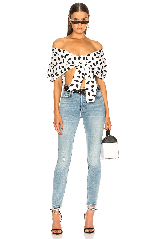 Image 4 of GRLFRND Karolina High-Rise Crop Jean in Go Low