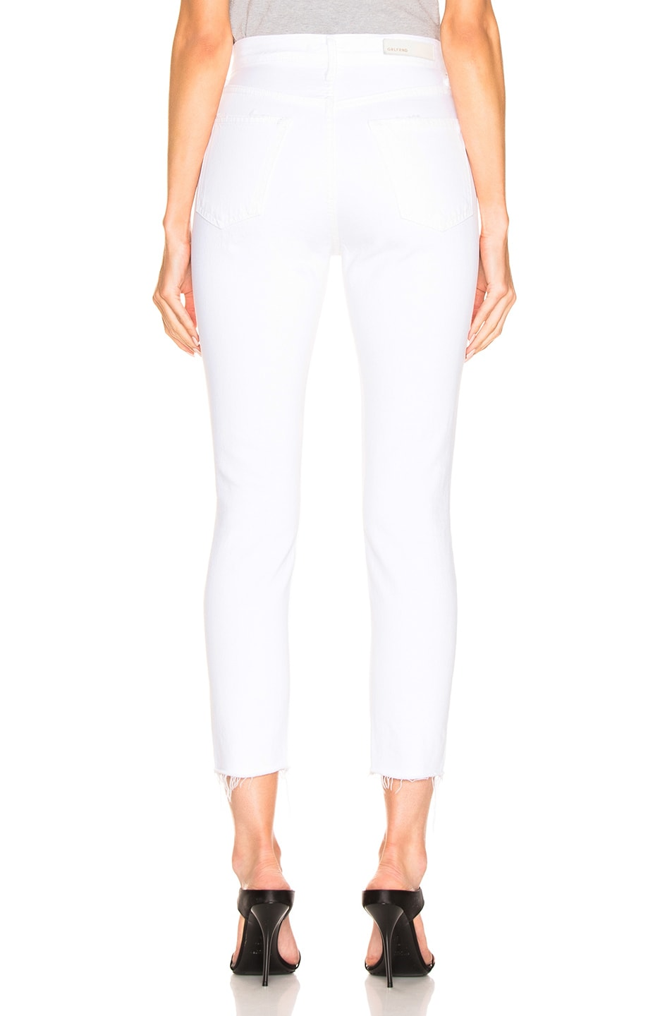 Image 3 of GRLFRND Karolina High Rise Skinny Crop in White Flag