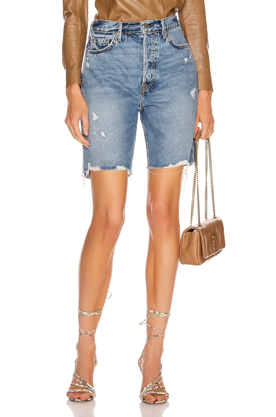 Image 1 of GRLFRND Marjan Bermuda Shorts in Step It Up