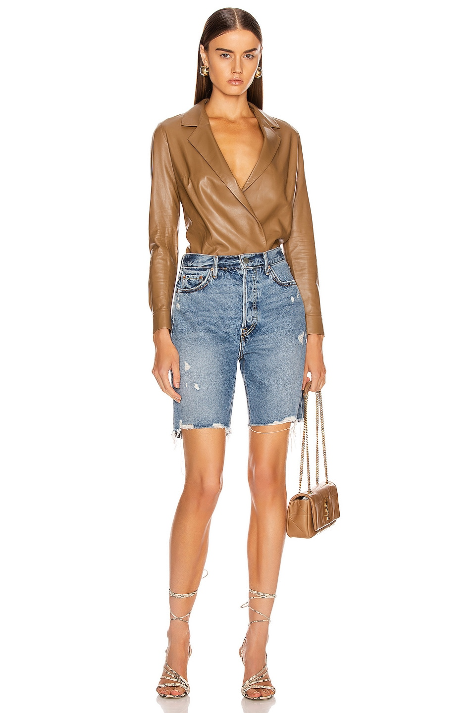 Image 4 of GRLFRND Marjan Bermuda Shorts in Step It Up