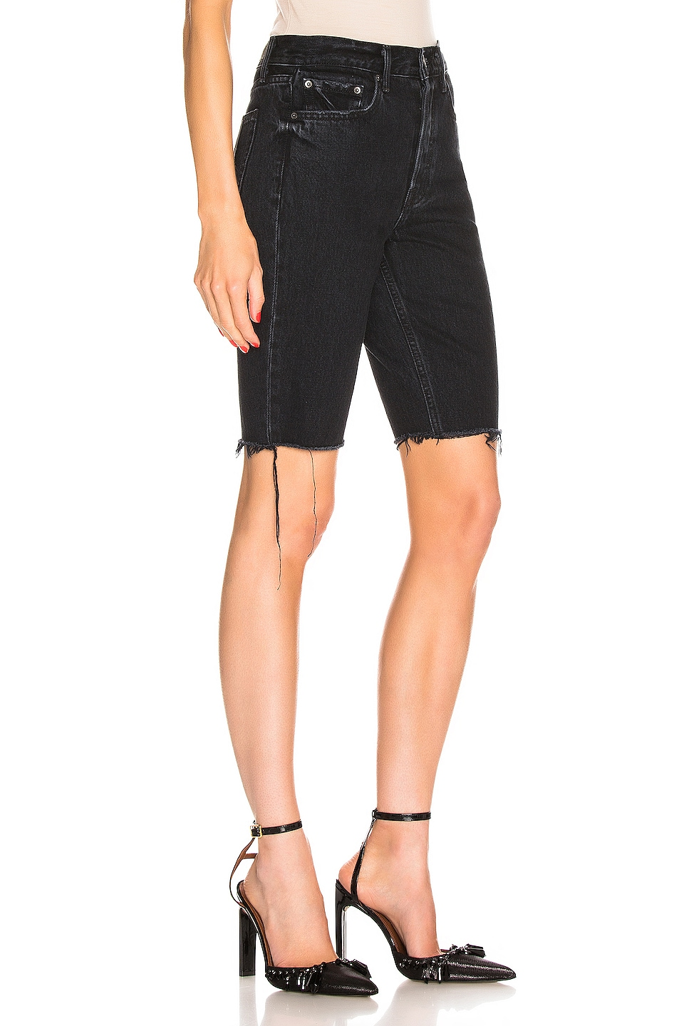 Grlfrnd Shorts Beverly High Rise Long Biker Short