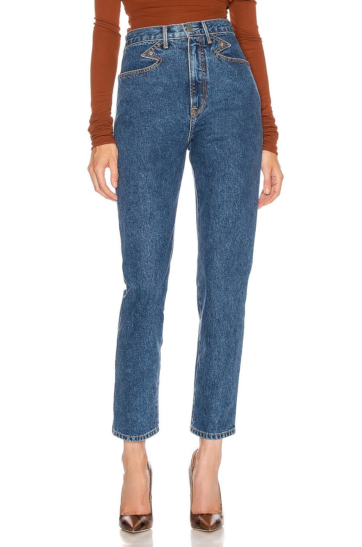 Image 1 of GRLFRND Rossana Western CF Yoke Vintage Slim Fit in Call It Love