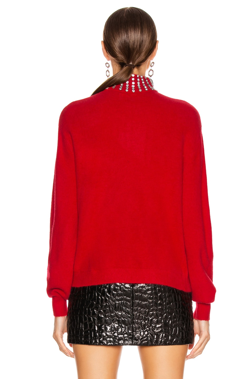 Image 3 of GRLFRND Katherine Embellished Sweater in Cherry Red