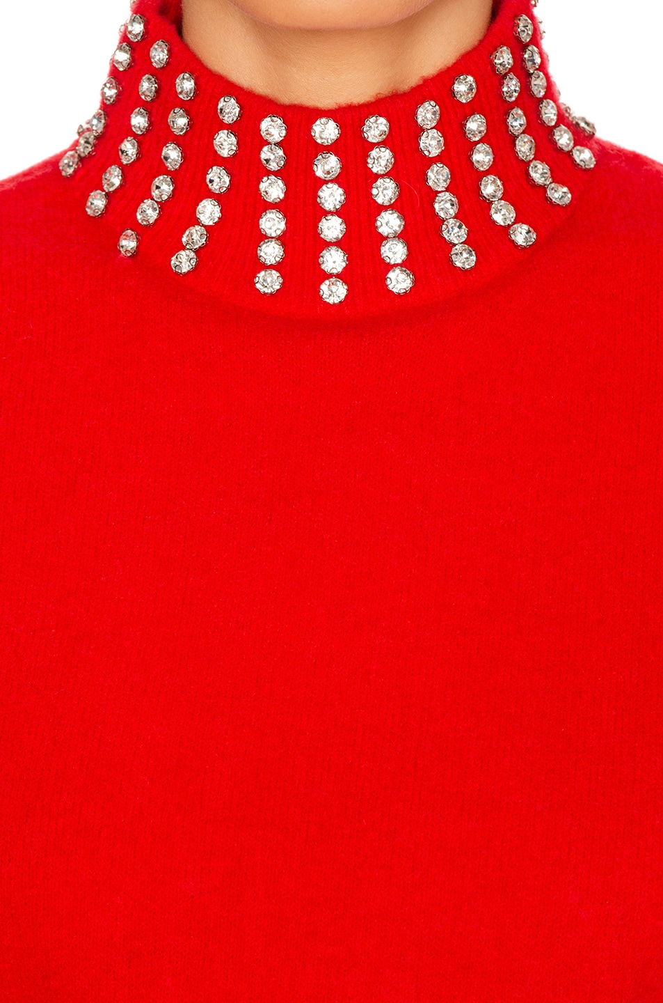 Image 5 of GRLFRND Katherine Embellished Sweater in Cherry Red