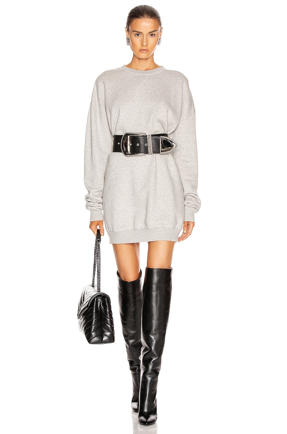 Image 1 of GRLFRND Ollie Oversized Sweatshirt in Melange Grey