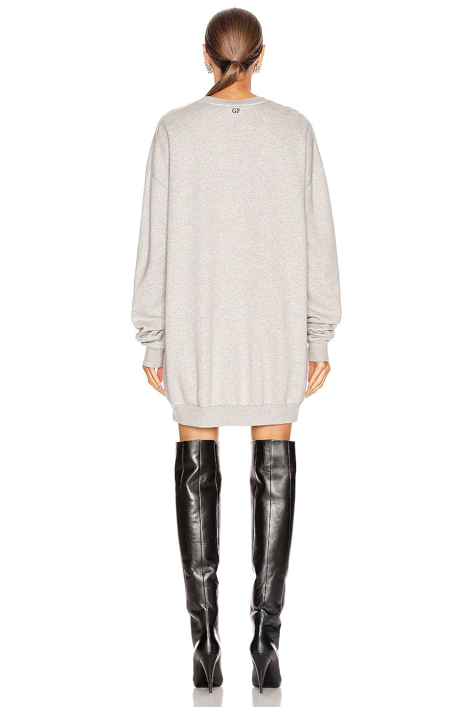 Image 3 of GRLFRND Ollie Oversized Sweatshirt in Melange Grey