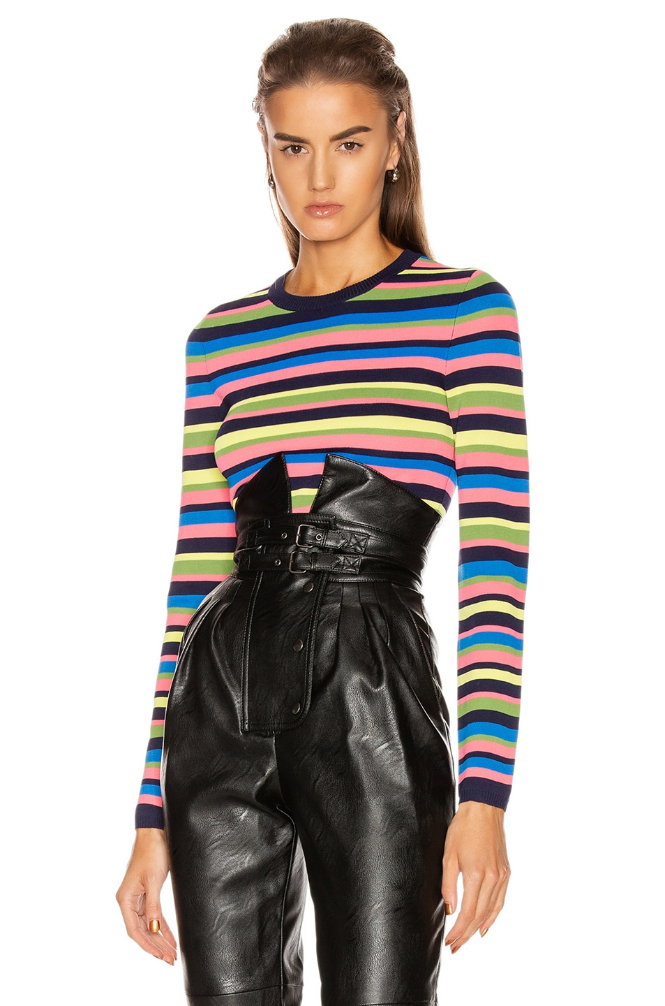 Image 1 of GRLFRND Nash Sweater Tee in Multi Stripe