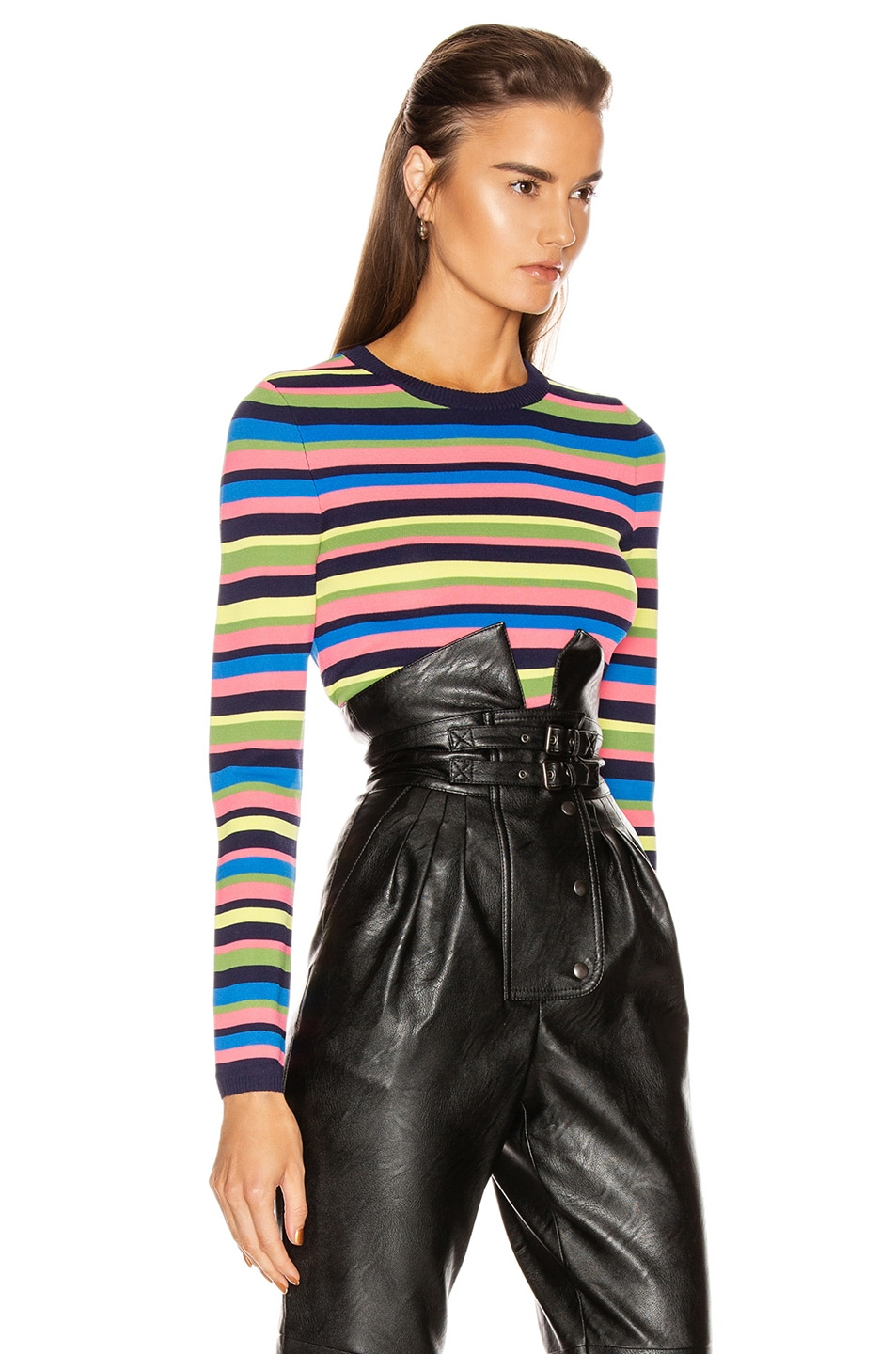 Image 2 of GRLFRND Nash Sweater Tee in Multi Stripe