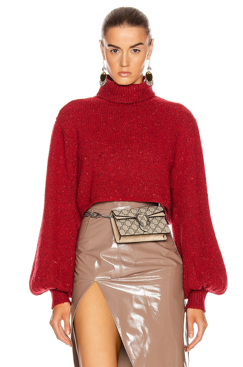 Image 1 of GRLFRND Mazzy Turtleneck Sweater in Red