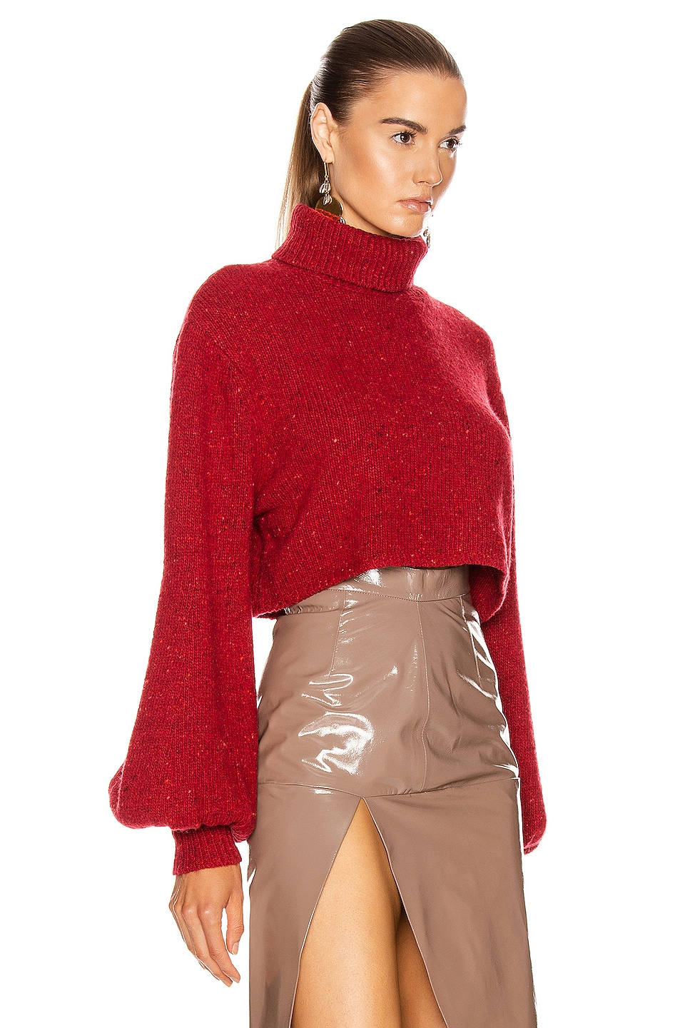 Image 2 of GRLFRND Mazzy Turtleneck Sweater in Red