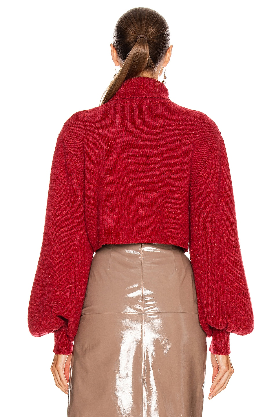 Image 3 of GRLFRND Mazzy Turtleneck Sweater in Red