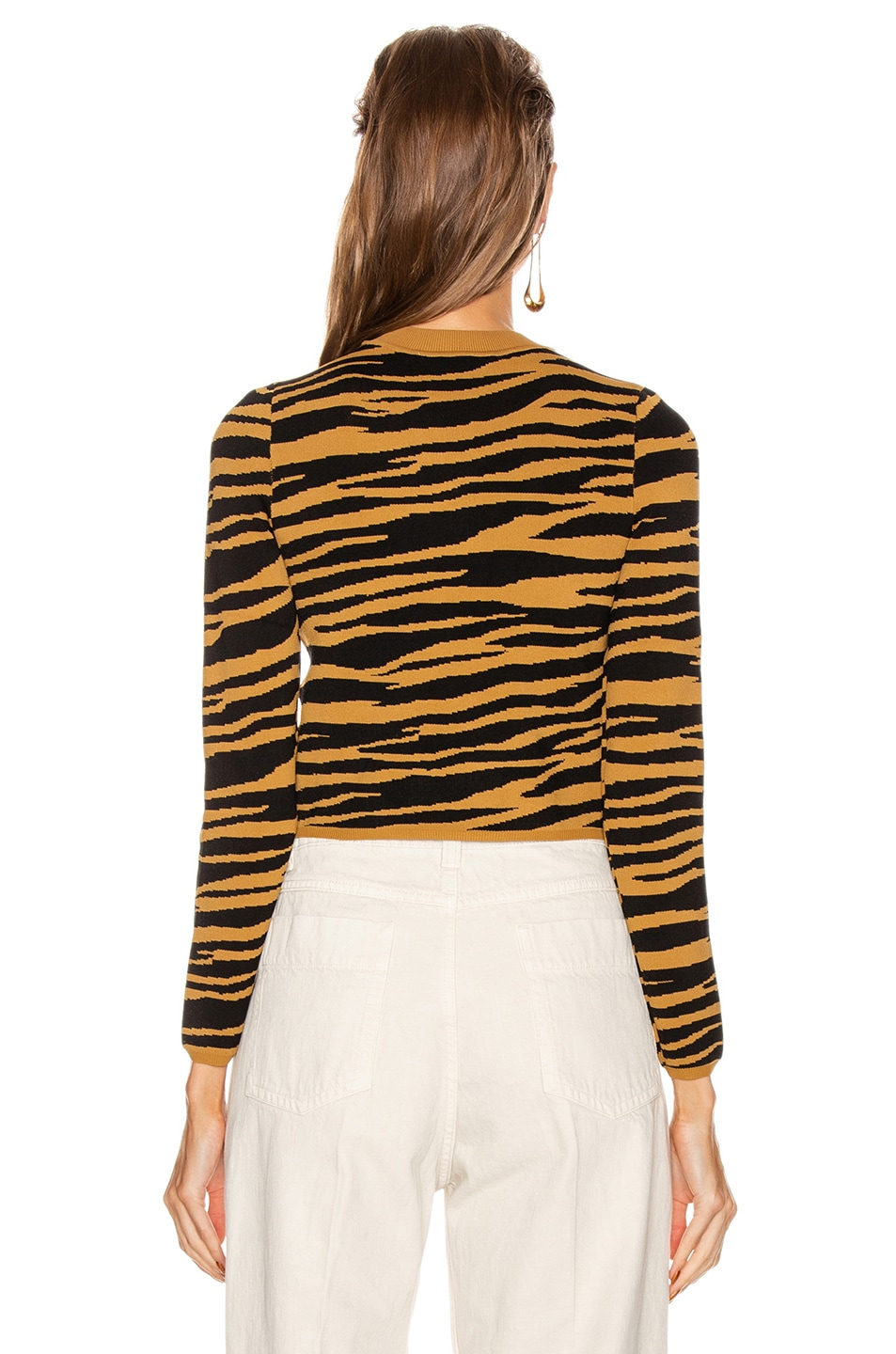 Image 3 of GRLFRND Toni Long Sleeve Sweater in Black and Gold