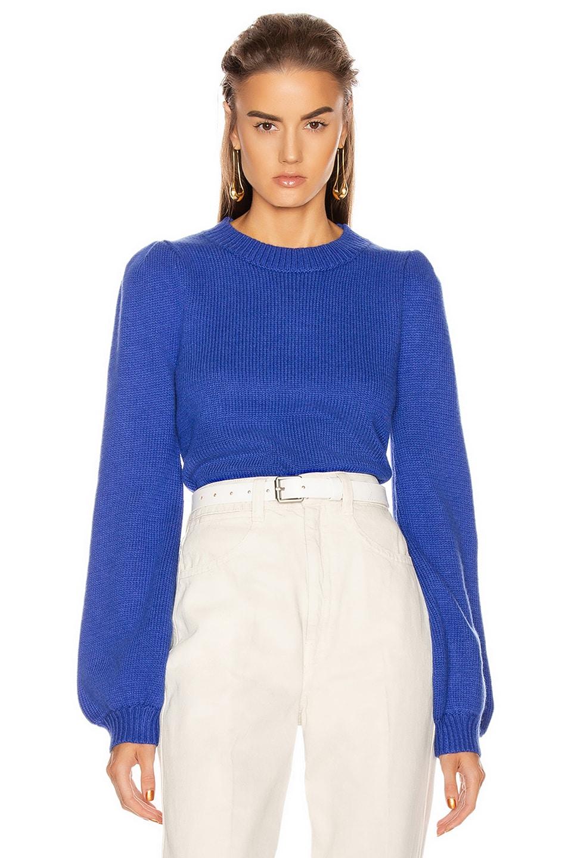 Image 1 of GRLFRND Penelope Sweater in Princess blue