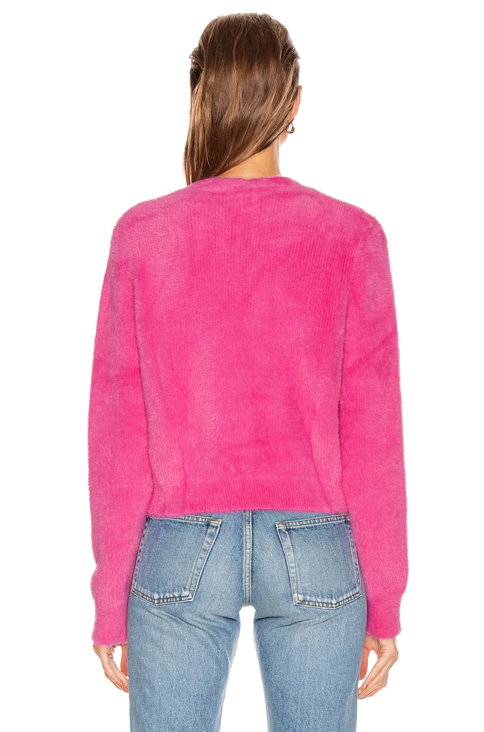 Image 3 of GRLFRND Gracie Cardigan in Bright Pink