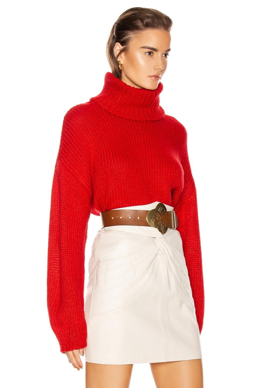 Image 2 of GRLFRND Samantha Turtleneck Sweater in Cherry Red