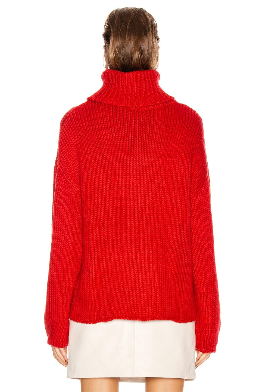 Image 3 of GRLFRND Samantha Turtleneck Sweater in Cherry Red