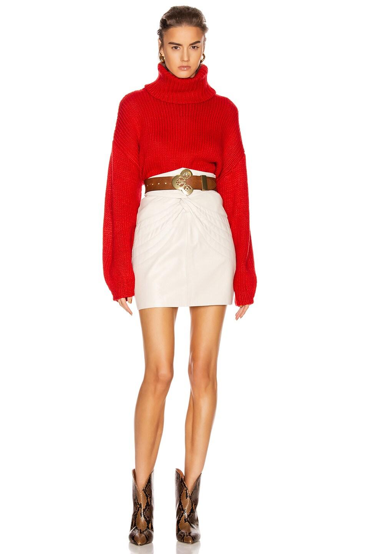 Image 4 of GRLFRND Samantha Turtleneck Sweater in Cherry Red