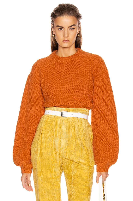 Image 1 of GRLFRND Joey Crewneck Sweater in Orange