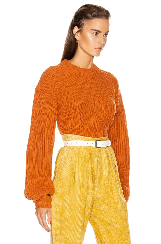 Image 2 of GRLFRND Joey Crewneck Sweater in Orange