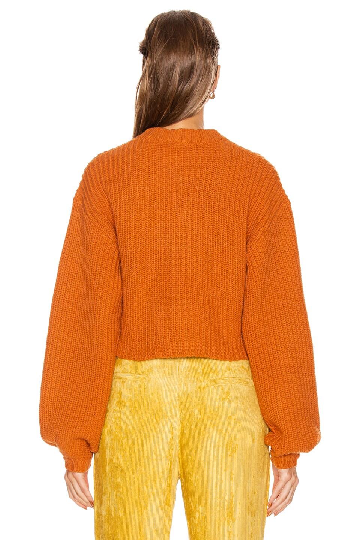 Image 3 of GRLFRND Joey Crewneck Sweater in Orange
